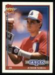 1991 Topps #182  Junior Noboa  Front Thumbnail