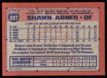 1991 Topps #697  Shawn Abner  Back Thumbnail