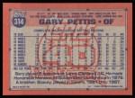 1991 Topps #314  Gary Pettis  Back Thumbnail