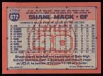 1991 Topps #672  Shane Mack  Back Thumbnail