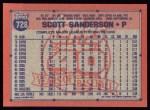 1991 Topps #728  Scott Sanderson  Back Thumbnail