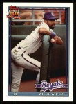 1991 Topps #208  Willie Wilson  Front Thumbnail