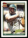 1991 Topps #144  Dave Henderson  Front Thumbnail