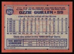 1991 Topps #620  Ozzie Guillen  Back Thumbnail