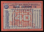 1991 Topps #237  Rick Cerone  Back Thumbnail