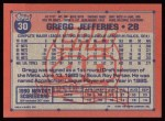 1991 Topps #30  Gregg Jefferies  Back Thumbnail