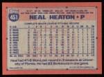 1991 Topps #451  Neal Heaton  Back Thumbnail