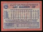 1991 Topps #154  Jay Buhner  Back Thumbnail