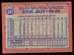 1991 Topps #507  Steve Jeltz  Back Thumbnail