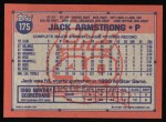 1991 Topps #175  Jack Armstrong  Back Thumbnail
