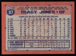 1991 Topps #87  Tracy Jones  Back Thumbnail