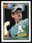 1991 Topps #608  Todd Burns  Front Thumbnail