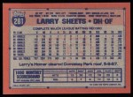 1991 Topps #281  Larry Sheets  Back Thumbnail