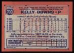 1991 Topps #733  Kelly Downs  Back Thumbnail