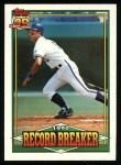 1991 Topps #2   -  George Brett Record Breaker Front Thumbnail