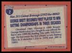 1991 Topps #2   -  George Brett Record Breaker Back Thumbnail