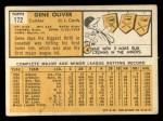 1963 Topps #172  Gene Oliver  Back Thumbnail