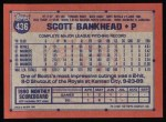 1991 Topps #436  Scott Bankhead  Back Thumbnail