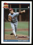 1991 Topps #282  Don Carman  Front Thumbnail