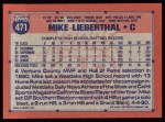 1991 Topps #471  Mike Lieberthal  Back Thumbnail