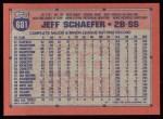 1991 Topps #681  Jeff Schaefer  Back Thumbnail