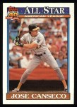 1991 Topps #390   -  Jose Canseco All-Star Front Thumbnail