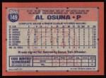 1991 Topps #149  Al Osuna  Back Thumbnail