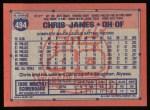 1991 Topps #494  Chris James  Back Thumbnail
