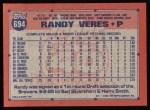 1991 Topps #694  Randy Veres  Back Thumbnail