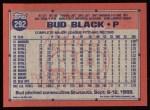 1991 Topps #292  Bud Black  Back Thumbnail