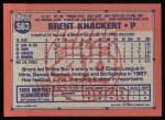 1991 Topps #563  Brent Knackert  Back Thumbnail