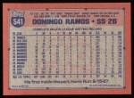 1991 Topps #541  Domingo Ramos  Back Thumbnail