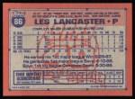 1991 Topps #86  Les Lancaster  Back Thumbnail