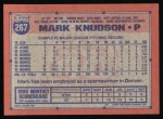 1991 Topps #267  Mark Knudson  Back Thumbnail