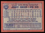 1991 Topps #247  Jody Reed  Back Thumbnail