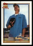1991 Topps #225  Randy Johnson  Front Thumbnail