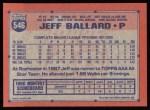1991 Topps #546  Jeff Ballard  Back Thumbnail