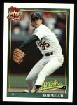 1991 Topps #50  Bob Welch  Front Thumbnail
