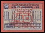 1991 Topps #370  Kelly Gruber  Back Thumbnail