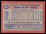1991 Topps #408  Earnest Riles  Back Thumbnail