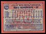 1991 Topps #758  Mike Devereaux  Back Thumbnail