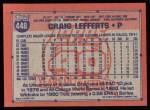 1991 Topps #448  Craig Lefferts  Back Thumbnail