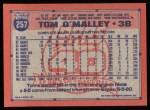 1991 Topps #257  Tom O'Malley  Back Thumbnail