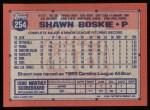 1991 Topps #254  Shawn Boskie  Back Thumbnail