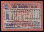 1991 Topps #343  Jose Oquendo  Back Thumbnail