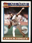1991 Topps #395   -  Chuck Finley All-Star Front Thumbnail