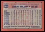 1991 Topps #566  Craig Wilson  Back Thumbnail