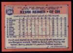 1991 Topps #304  Kevin Reimer  Back Thumbnail