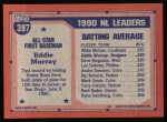 1991 Topps #397   -  Eddie Murray All-Star Back Thumbnail