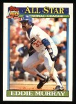 1991 Topps #397   -  Eddie Murray All-Star Front Thumbnail